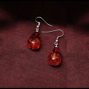 Jewelry - Amber Droplet Earrings Jewelry Gift